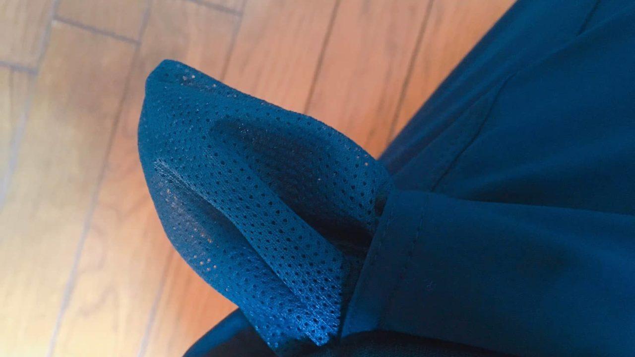 ノースフェイス ドーローライトパンツのポケットがメッシュになっている