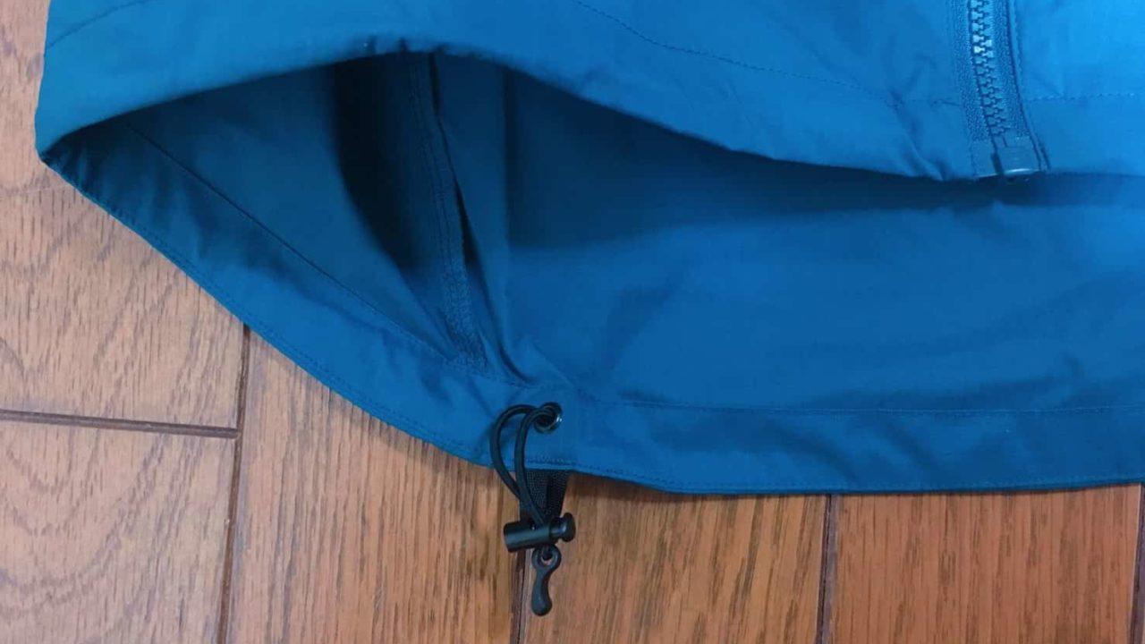 アークテリクス Squamish Hoody 裾の部分のドローコード