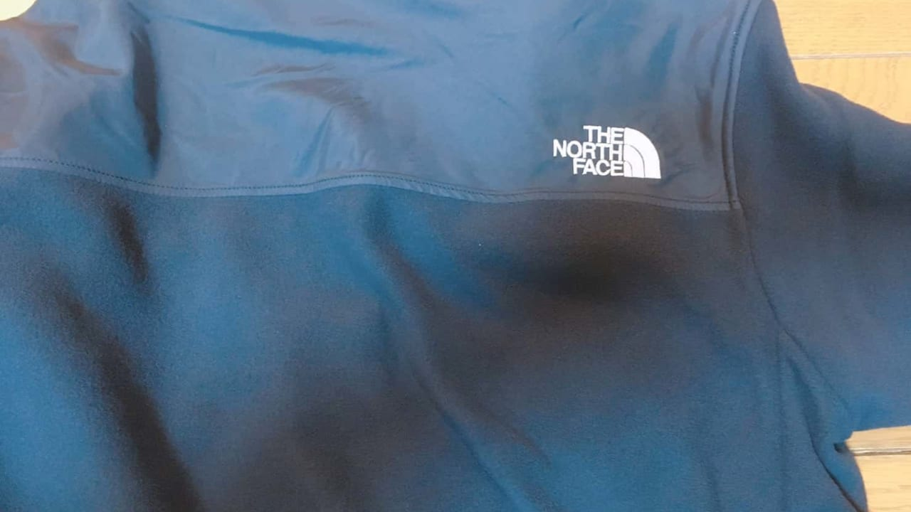 ノースフェイス マウンテンバーサマイクロジャケット 後ろ肩ノースフェイスロゴ