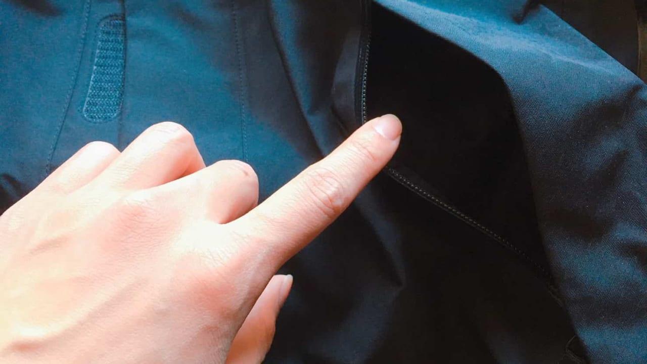 ノースフェイス マウンテンジャケット 前面のポケット
