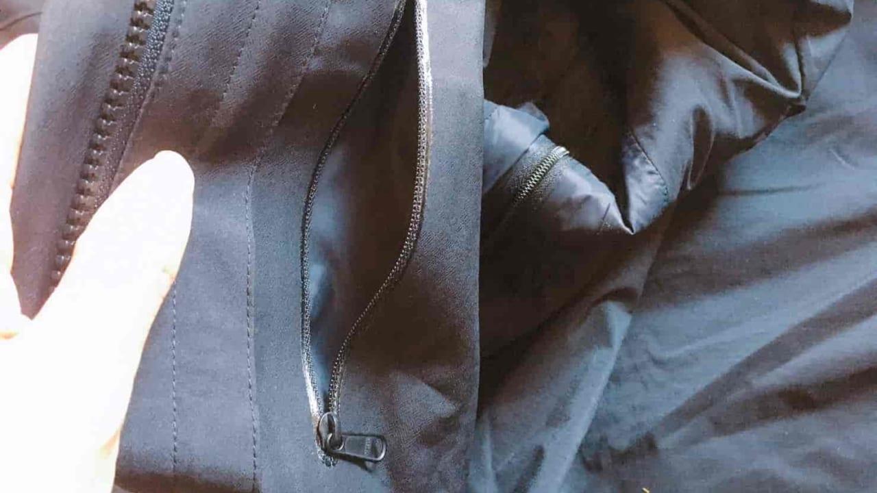 ノースフェイス マウンテンジャケット 裏地のポケット