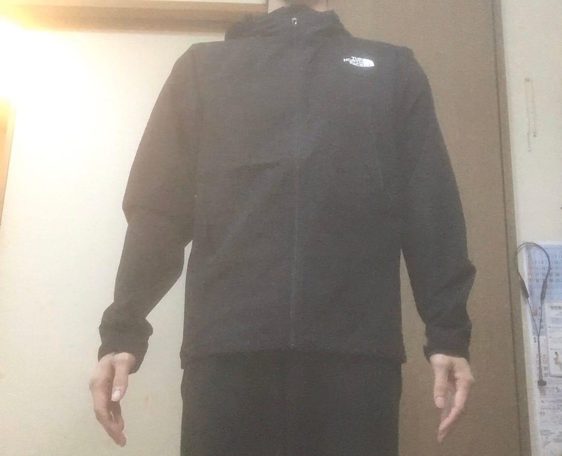 ノースフェイス エボリューションジャケット 前面着用感